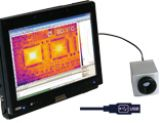optris PI160 ir camera recording a thermal image of circuits