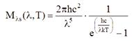 Planck formula