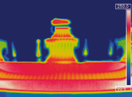 Heat input into the silicium wafer due to the braze process