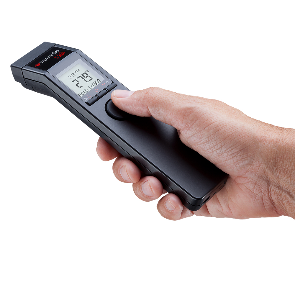 Handheld pyrometer of the optris MS series