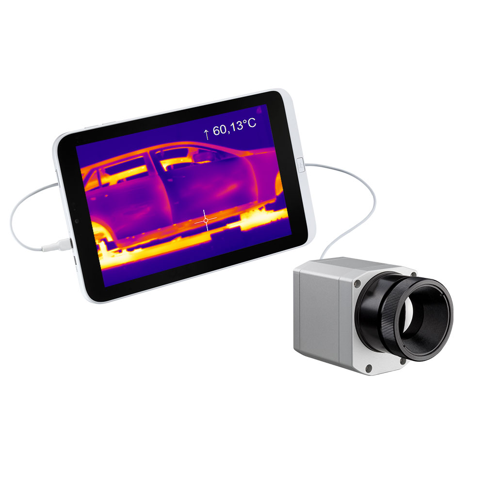 IR camera optris PI 640 with tablet
